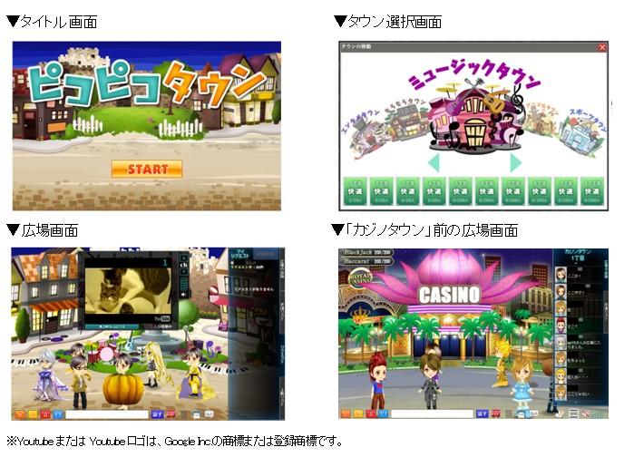 DeNA、「Yahoo!モバゲー」上に3D仮想空間『ピコピコタウン』β版をオープン!