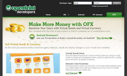 OpenFeint、Androidアプリの課金開発ツール「OFX for Android」を提供開始