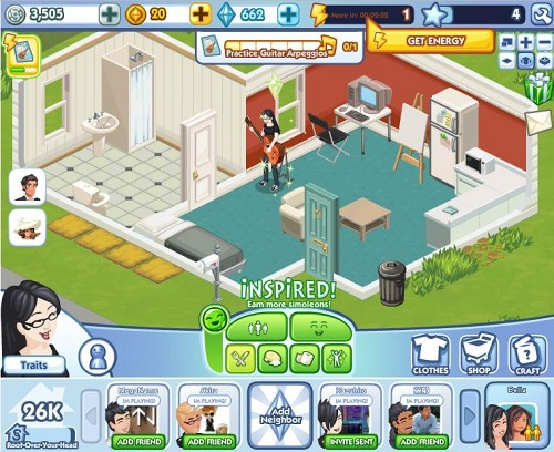 「The Sims」のソーシャルゲーム版「The Sims Social」、Facebookにて一般公開開始