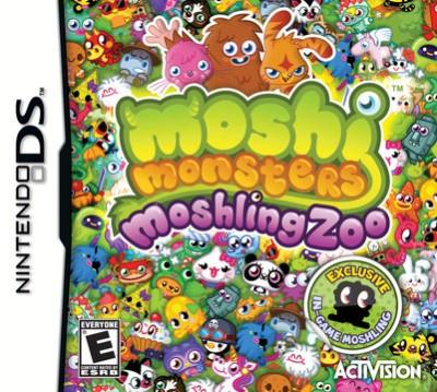 イギリスの子供向け仮想空間「Moshi Monsters」、DS用ソフトに移植