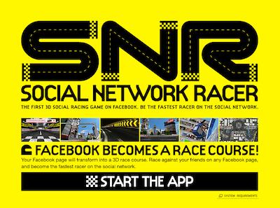 TOYOTA、Facebookにてレースゲーム「Social Network Racer」をリリース