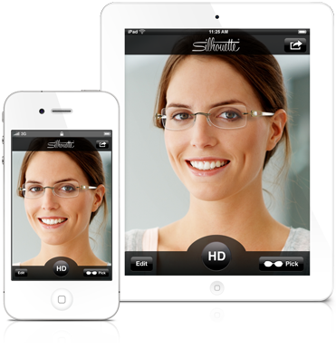 iPhoneやiPadを手鏡みたいに使おう! ARメガネ試着アプリ「Silhouette iMirror」