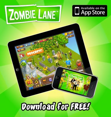 Digital Chocolate、ゾンビ撃退ソーシャルゲーム「Zombie Lane」のiOS版をリリース