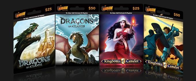 米ソーシャルゲームディベロッパーのKabam、プリペイドカードの販売を開始