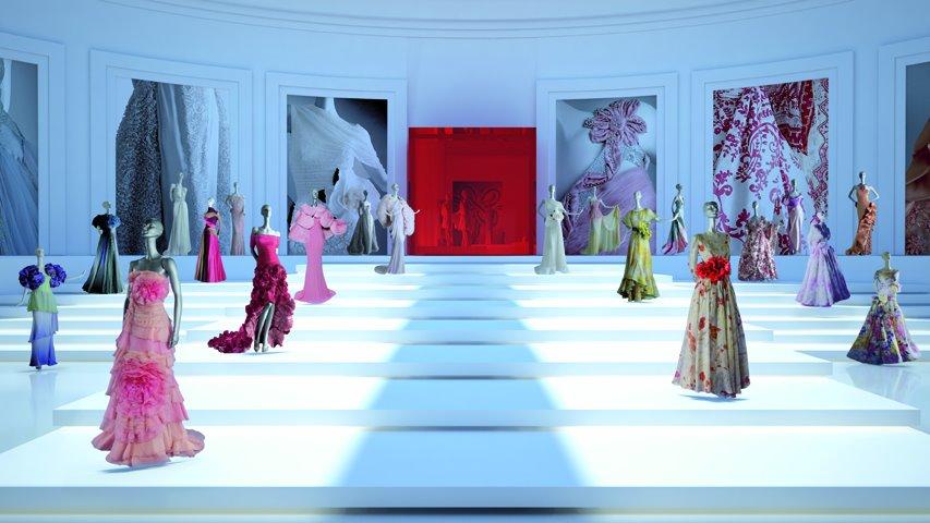 VALENTINOのドレスを仮想空間内で鑑賞する「The Valentino Garavani Virtual Museum」