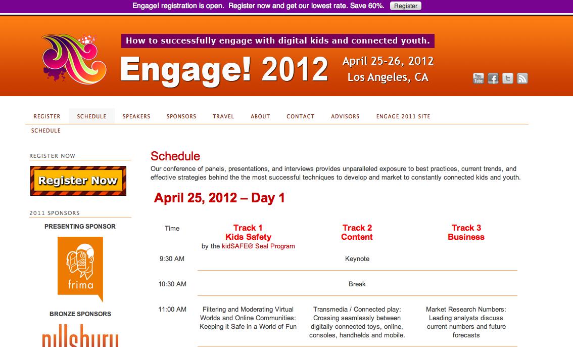 4/25-26、L.Aにて仮想空間カンファレンスイベント「Engage!2012」開催