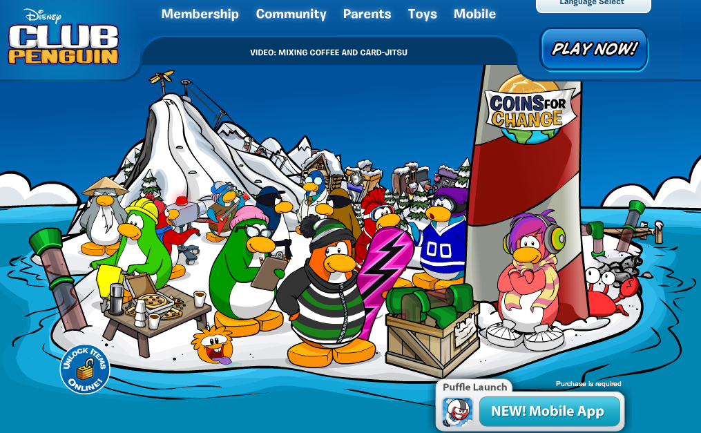 Club Penguin、寄付する慈善活動をユーザー投票で決める「Coins for Change」を実施