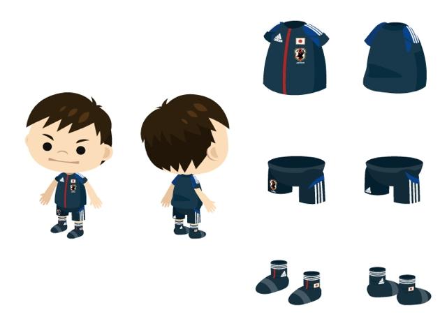 アディダス ジャパン、アメーバピグにてサッカー日本代表の新オフィシャルユニフォームを提供