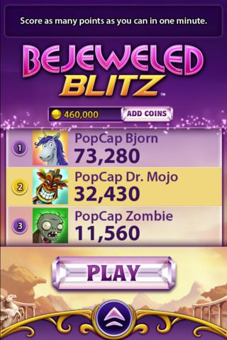 米ソーシャルゲームディベロッパーのPopCap、看板タイトル「Bejeweled」のiOS版をリリース1