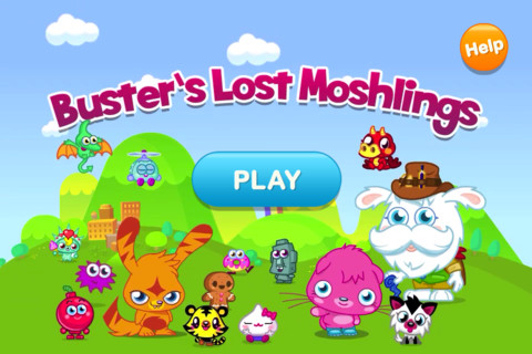 Moshi Monstersがモチーフの子供向けiPhoneアプリ「Moshi Monsters: Buster's Lost Moshlings」1