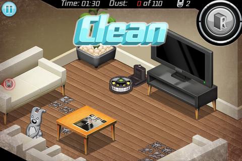 お掃除ロボット「ルンバ」で遊ぶゲームアプリ「Roomba Revenge」1