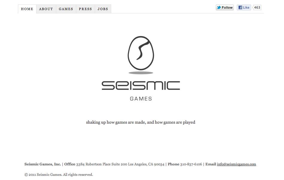 L.AのソーシャルゲームディベロッパーSeismic Games、200万ドル資金調達
