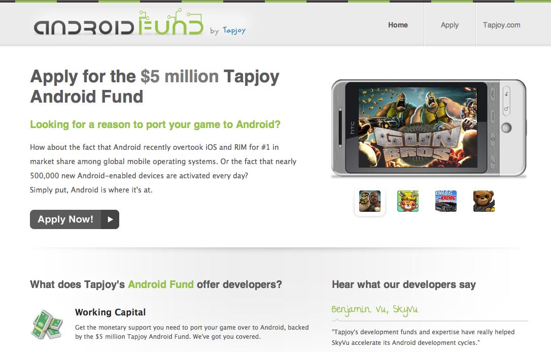 仮想通貨決済のTapjoy、Android向けアプリファンドで130社に投資