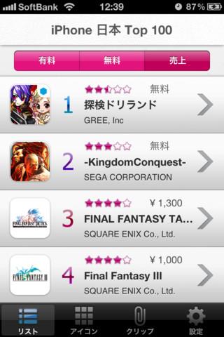 Excite、iOS向けランキングアプリ「GAME RANKING~ゲームが大好きなあなたのためのランキング~」をリリース