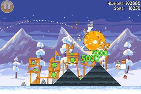 Angry Birds、クリスマスだけで650万ダウンロード