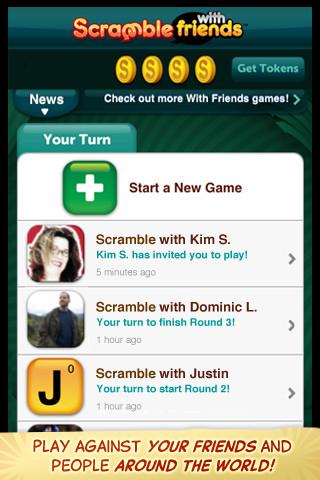 Zynga新作ラッシュ!iOS向けゲームアプリ「Scramble With Friends」リリース1
