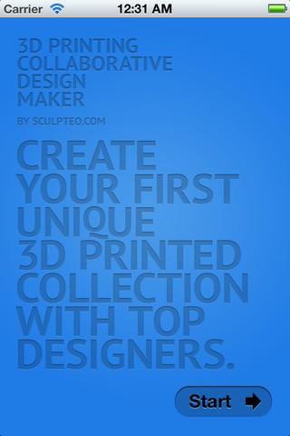iPhoneで3Dモデリング→プリントができるiOSアプリ「3D Printing Sculpteo Design Maker」1