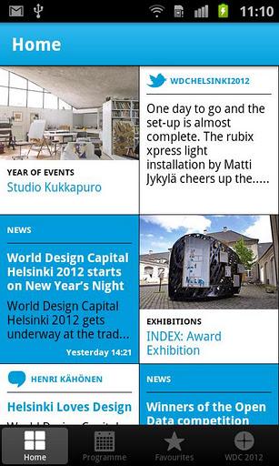 北欧デザイン好きは必見!フィンランドのアートイベント「World Design Capital Helsinki 2012」の公式アプリ「WDC 2012」1