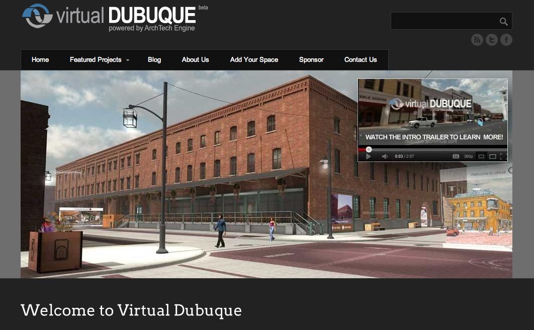 米アイオワ州の都市ドゥビューク、3D仮想空間「Virtual Dubuque」をオープン