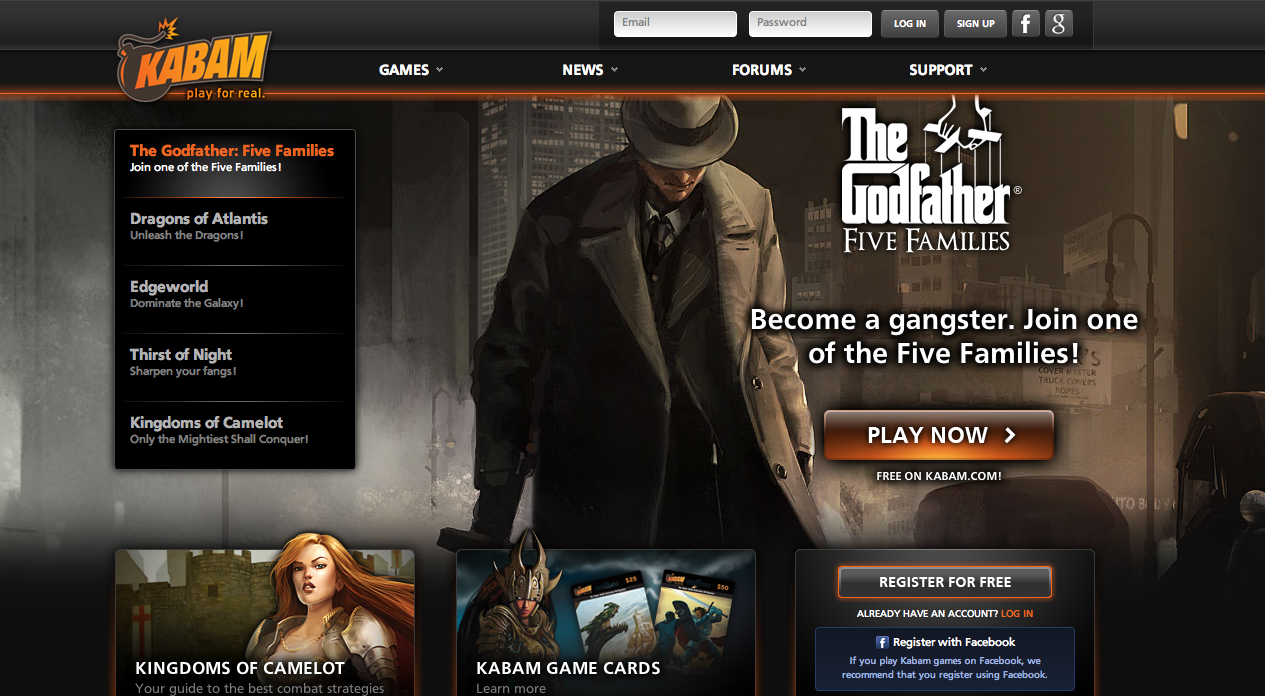 ソーシャルゲームディベロッパーのKabam、ゲームポータルサイト「Kongregate」と提携