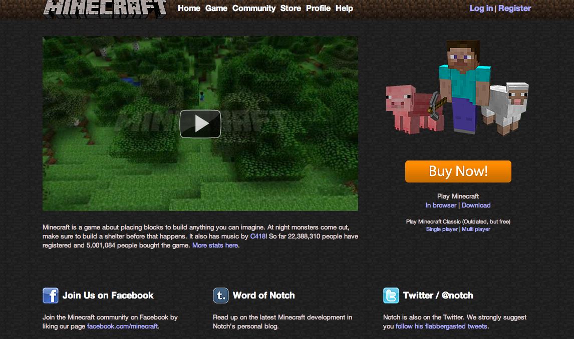 Minecraft、販売数500万本突破
