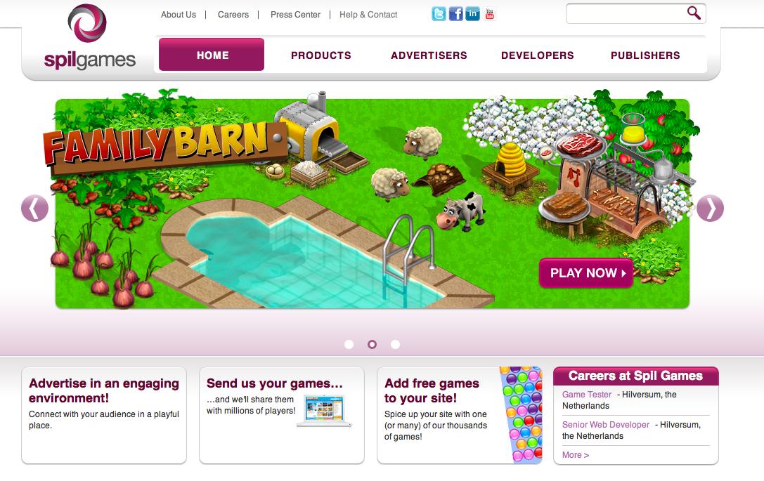 オランダのゲームポータルサイト「SPIL GAMES」、ユニークユーザー数1億7000万人突破