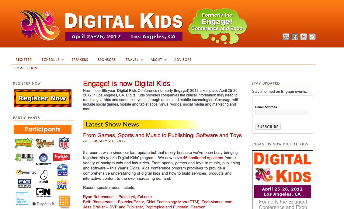 4/25-26、L.A.にて子供向けのオンラインサービスに特化したカンファレンスイベント「Digital Kids」開催