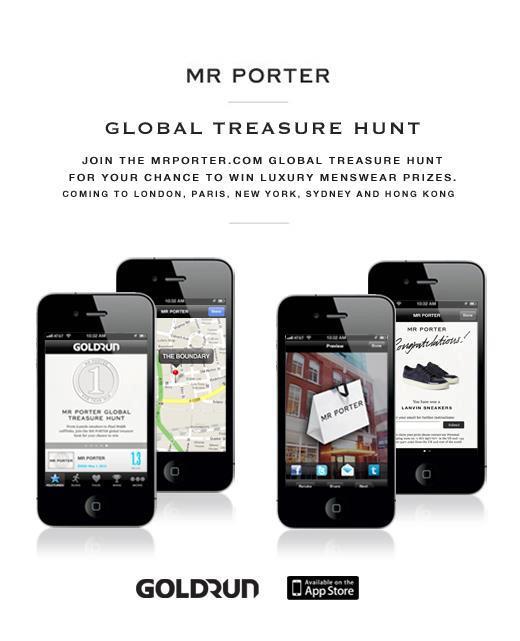 ファッションブランドのMr Porter、ARを使用した「宝探しキャンペーン」を実施
