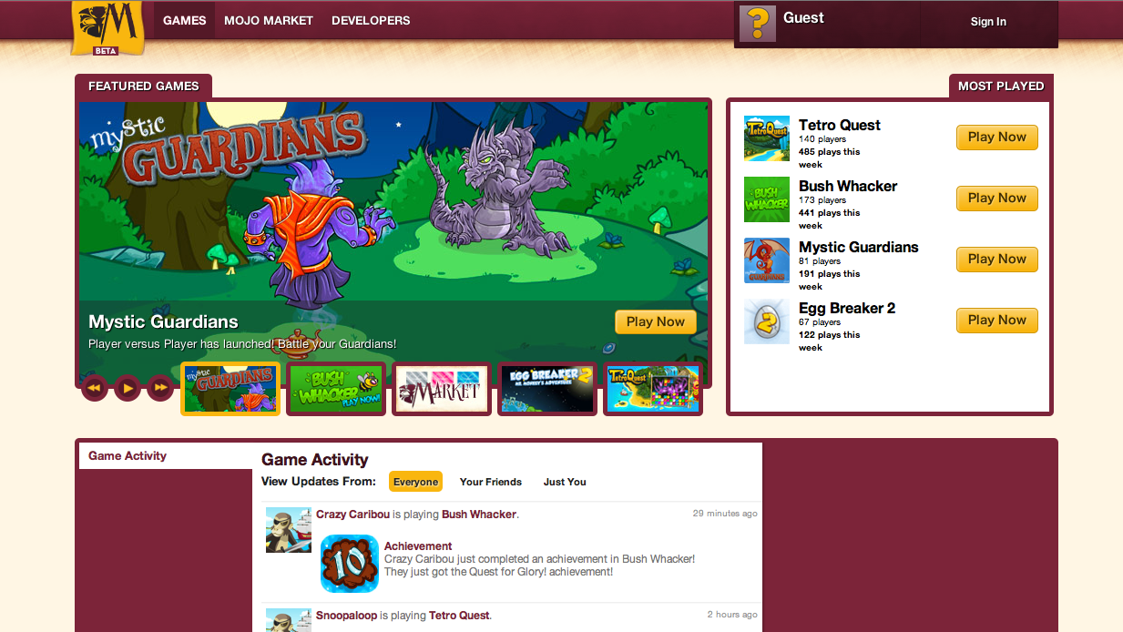新たなソーシャルゲームプラットフォーム「magi.com」