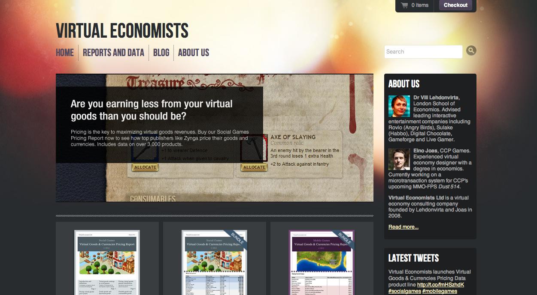海外の仮想経済レポートを見てみよう-「Virtual Economists」