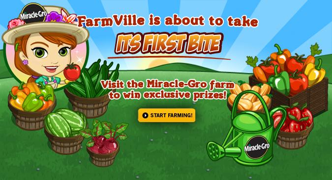 FarmVille、ガーデニングブランドの「Miracle-Gro」とタイアップ
