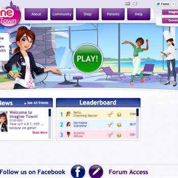 Ubisoft、女の子向け仮想空間「Imagine Town」をリリース