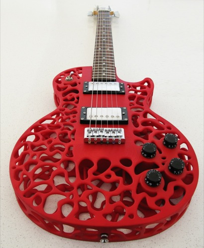 3Dプリンタで出力されたエレキギターのボディが凄い件1