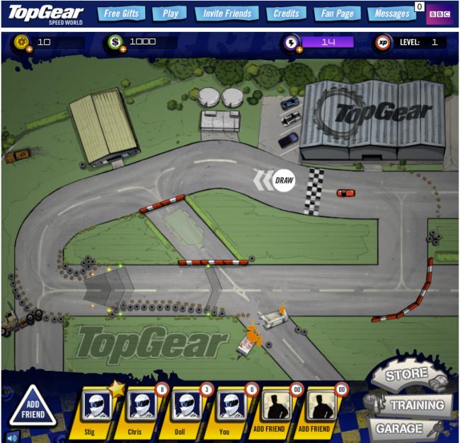 Powwwweeeerrrr!!! BBCの車バラエティ番組「TopGear」がソーシャルゲーム化