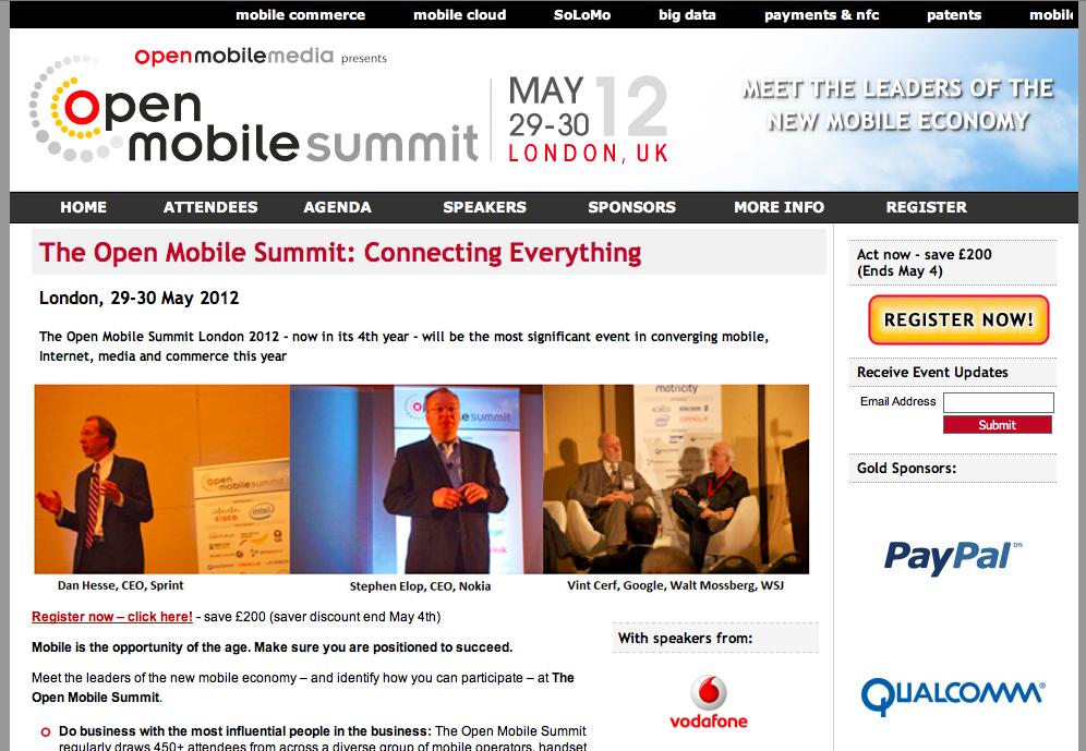 5/29~30、英ロンドンにて「Open Mobile Summit conference」開催