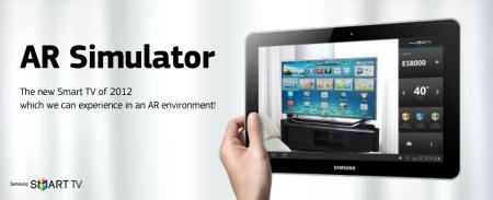 サムスン、Android向けARアプリ「Samsung Smart TV 'AR Simulator' Application」をリリース