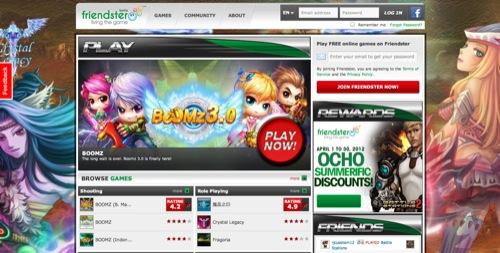 SNSのFriendster、ソーシャルゲームプラットフォームとしてリニューアルオープン
