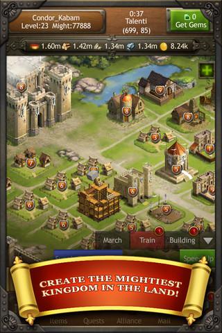 米ソーシャルゲームディベロッパーKabamのiOS向けゲームアプリ「Kingdoms of Camelot: Battle for the North」が100万ダウンロード突破1