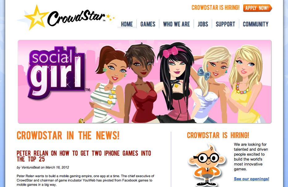 ソーシャルゲームディベロッパーのCrowdStar、中国のTencentと韓国のGamevilと提携