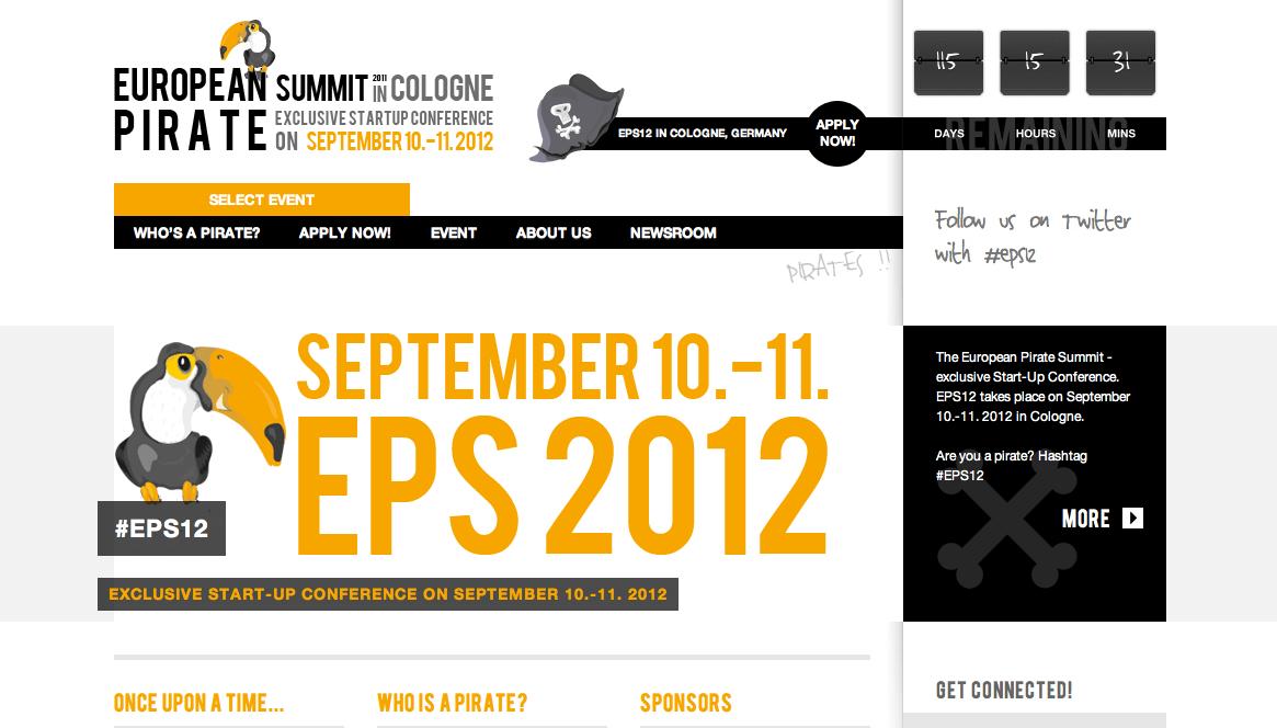 起業家は海賊だ!9/10~11に「European Pirate Summit」開催