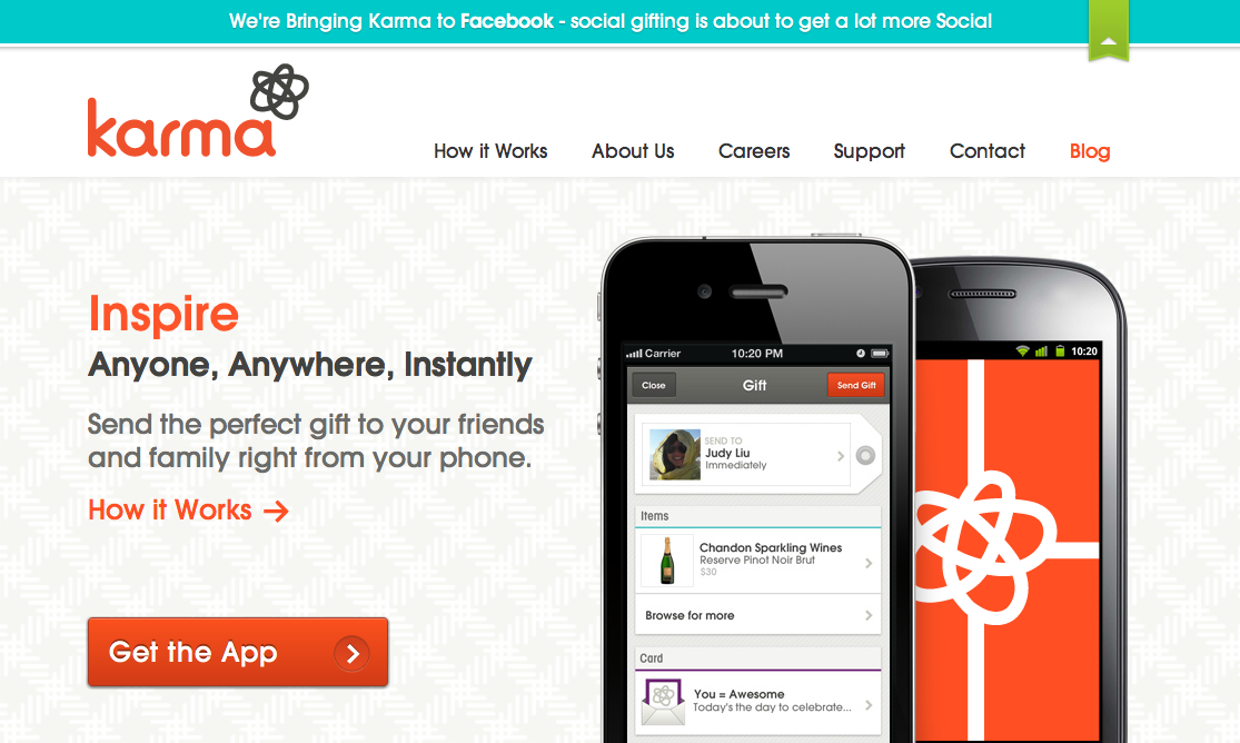 Facebook、ソーシャルギフトサービスのKarmaを買収