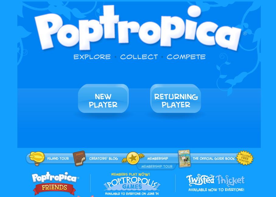 子供向け仮想空間「Poptropica」、DS用ソフトに移植
