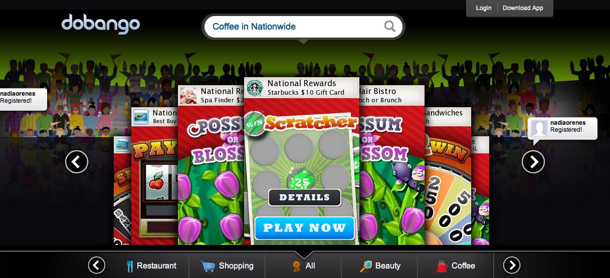 米ソーシャルゲームディベロッパーのDobango、ゲームをプレイすると地元商店のクーポンが貰えるシステムを導入