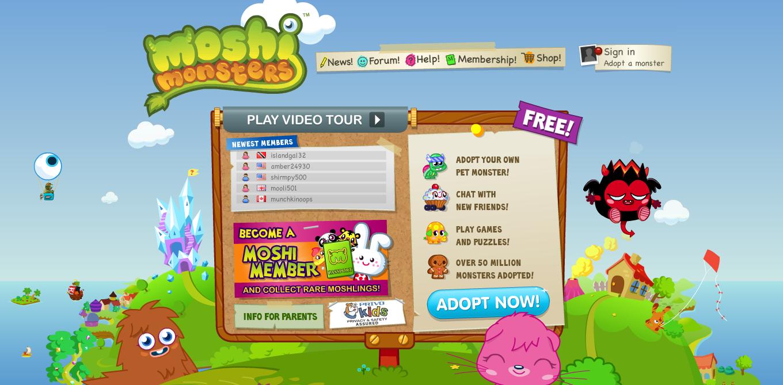 イギリスの子供向け2D仮想空間「Moshi Monsters」がGREEにやってくる!英Mind CandyとGREEが提携を発表