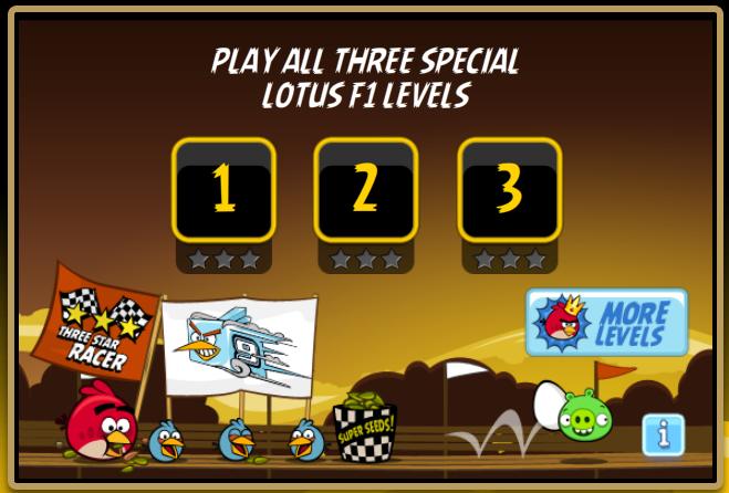 Rovio、FacebookにてF1チームのロータス限定バージョンの「Angry Birds」を公開