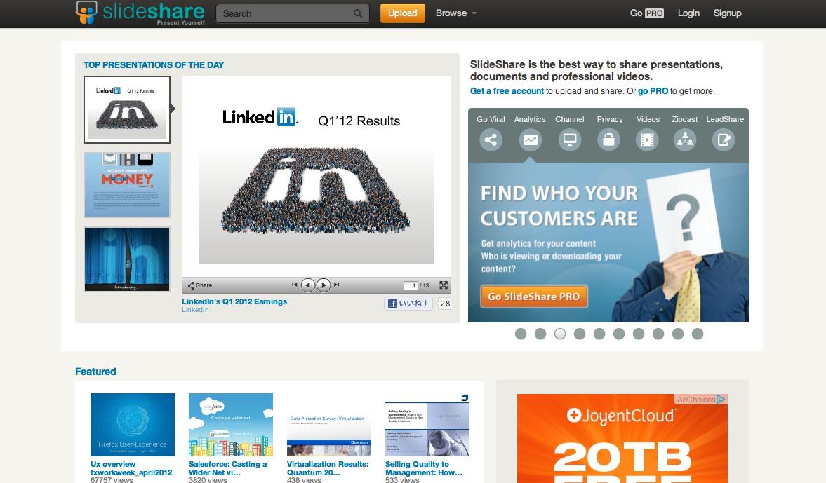 LinkedIn、スライド共有サイト「SlideShare」を1億1900万ドルで買収