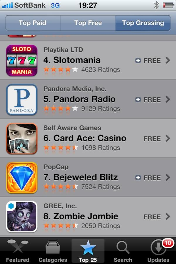 GREEの北米向けタイトル躍進!「Zombie Jombie」が米AppStore売上ランキングにてトップ10入り