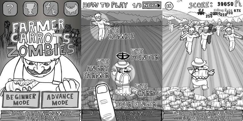 カヤック、農夫VSベジタリアン・ゾンビの農場シューティングゲームアプリ 「Farmer Carrots Zombies」をリリース