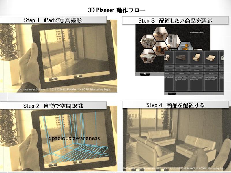 サカタインクス、「3Dプランナー for iPad(仮)」を開発 「第20回 3D&バーチャル リアリティ展」に出展1