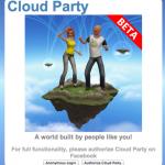 Facebookアカウントでログインできモノ作りもできるWebブラウザベースの3D仮想空間「Cloud Party」